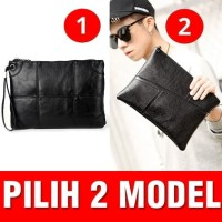 Clutch Hand bag Tas Pria Kulit BLACK HITAM