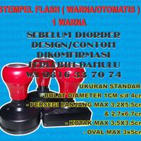 STEMPEL FLASH ( WARNA/OTOMATIS ) 1 WARNA
