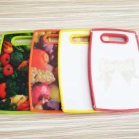 Talenan Motif Buah dan Sayur / Alas Plastik Tebal Ukuran 20 x 30 cm