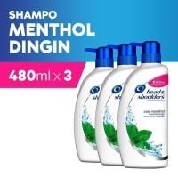 Head & Shoulders Sampo Cool Menthol 480ml - Paket isi 3