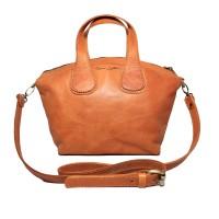 Tas Selempang Kulit GVCN Tan and Brown - Kenes Leather