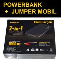 V-GeN PowerBank Jumper Starter 7200mAh | Jumper Mobil | AKI | ACCU