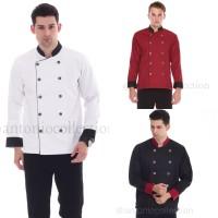 Baju Koki Putih Lengan Panjang