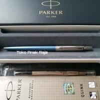PAKET 1 KLIK:1 pc Parker Jotter WaterlooBlue Ballpoint+1 pc Reff BP