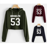 MichelleStore Sweater / Outerwear Wanita Hoodie Crop Brooklyn 53