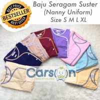Baju Seragam Suster Kancing Samping / Baju Baby Sitter Celana Panjang