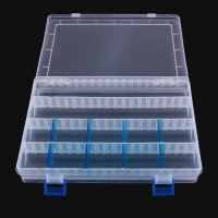 Plastic Fishing Lure Box Tackle Multifunctiona Transparent Plug-in