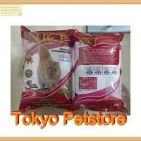 Makanan Kucing NICE Repack 1 Kg Seafood (bentuk ikan)