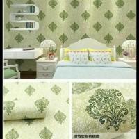 Harga produk terbatas wallpaper batik hijau 45 cm x 10 mtr | antitipu.com