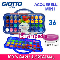 Giotto Acquerelli MINI 36 Warna Water Color Cake /Cat Air 23mm Set 36