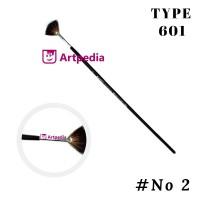 Kuas Vtec Type 601-RC No. 2 / Kuas Kipas / Kuas Lukis - Fun Brush