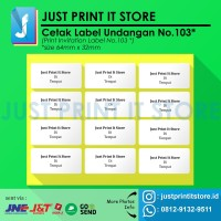 Print / Cetak Label Undangan No.103
