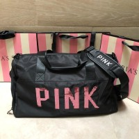 Tas Olahraga Victoria Secret VS Sequin Fitness Black Pink Impor Murah - Fuschia