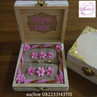 kotak tempat cincin rustic ring box vintage untuk hantaran seserahan