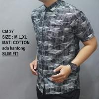 Harga baju batik pria slimfit casual formal kerja kantor ob | Pembandingharga.com