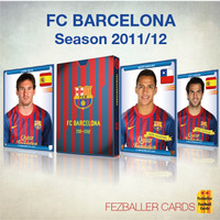 Kartu Bola Fezballer Cards tim La Liga FC BARCELONA season 2011-2012