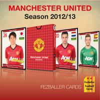 Kartu bola Fezballer Cards MANCHESTER UNITED - 2012-2013