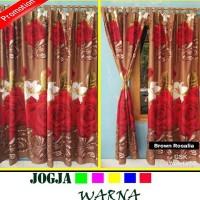 Harga promo grosir ecer gorden pintu jendela bunga flaminggo rose | Pembandingharga.com