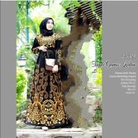 baju batik gamis pola sogan pakaian batik wanita baju batik muslim