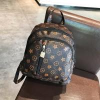 Ransel Pergi Mall Fashion Tas Kuliah Murah Batam Import 20203 Coklat