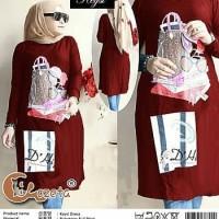 DRESS KEYSI BABYTERRY FULL PRINT/DRESS JUMBO/TUNIK JUMBO/ATASAN MUSLIM