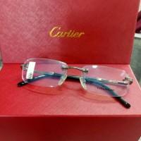 Frame Kacamata Elegan Cartier Titanium Frameless Grade Original