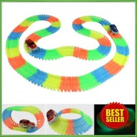 Track Mobil-Mobilan Glow in The Dark 165PCS with 1 LED Car - Multi