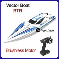 Rc Boat Vector High Speed RTR Perahu Remote Control Ship Lima Drone