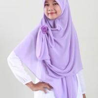 Hijab Syar39i Ceruti Royal Deluxe Ungu Muda