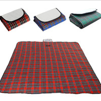 Matras piknik foldable Tikar piknik tikar tamasya tikar lipat - biru