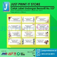Print / Cetak Label Undangan Bermotif
