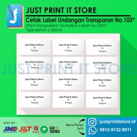 Print / Cetak Label Undangan Transparan No.103