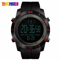 Jam Tangan Pria Original Skmei Sporty OutDoor Digital Led Karet Baru