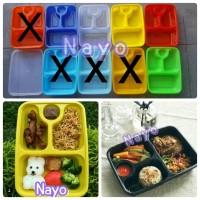 Bento plastik/Kotak plastik/Food container/Lunch box/Tempat makanan