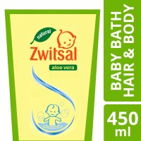 Zwitsal Baby Bath 2in1 Hair&Body Natural Pouch 450ML