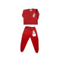 Miyo red set baju panjang dan celana tutup kaki sz 0-3m