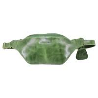 Waist Leather Bag Kinan Green - Kenes Leather