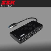 USB HUB SSK SHU802 4 USB 3.0 ports