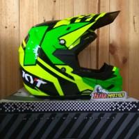 helm KYT Cross Over Super Fluo Yellow - Green onderdil murah