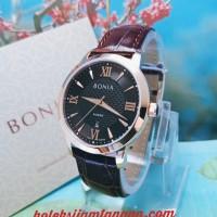 JAM TANGAN WANITA BONIA BNR166-3533 BLACK ROSE GOLD ORIGINAL MURAH