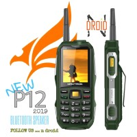 MAXTRON P12 hp antena outdoor powerbank - Hitam