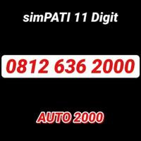 Kartu Simpati Telkomsel - 0812 363 2000 - Nomor Cantik 11 Digit Ribuan