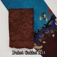 Harga brokat brukat kain kebaya batik dress gaun baju muslim gamis   Pembandingharga.com