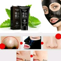 BIOAQUA Charcoal Mask Black Hitam Mask Masker Arang Masker Muka Wajah