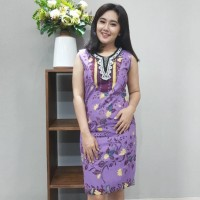 Dress Katun Tulis Cirebon uk S Brand Batik Muda - BAAD22151