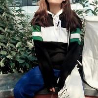 Harga murah sweater tangan panjang wanita blouse korea baseball tee | Pembandingharga.com