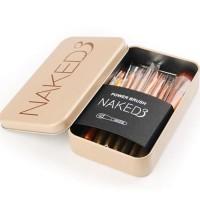 [ Isi 12 Kuas ] PRO Brush NAKED 3 - Make Up Brush Naked 3 Set Kit