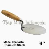 "TJAP MATA / CAP MATA Sendok / Cetok Semen Djakarta 6"" -Stainless Steel"