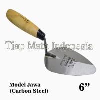 "TJAP MATA / CAP MATA Sendok / Cetok Semen Jawa 6"" (Carbon Steel)"