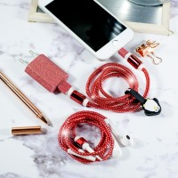 Cable Protector/Pelindung Kabel Spiral-SET CHARGER & HEADSET- METALIC